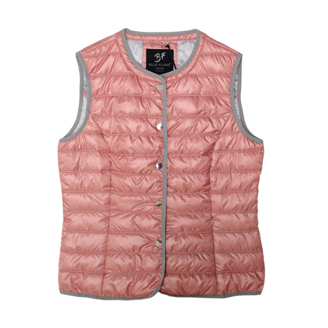 Blue Flame Nickel Sleeveless Padded Jacket