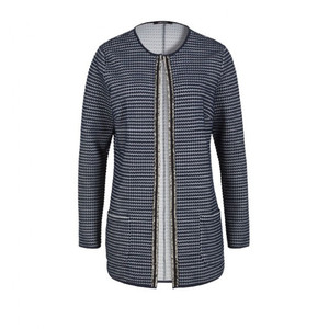 Olsen Navy Textured Cardigan Knit