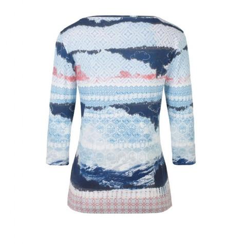 Olsen Seascape Printed Top Blue