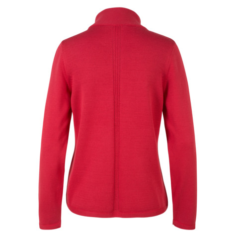 Olsen CARDIGAN WITH ZIPPER - SUNSET RED