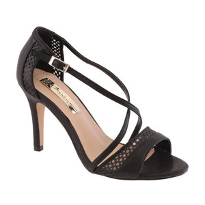 Barino Black Cross Strap Dressy Shoe