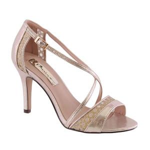 Barino Gold Cross Strap Dressy Shoe
