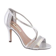 Barino Silver Cross Strap Dressy Shoe