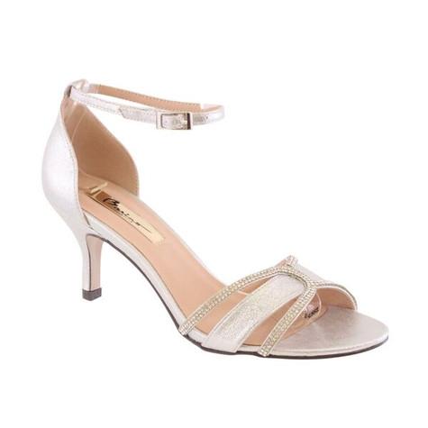 Barino Silver Ankle Strap Shoe