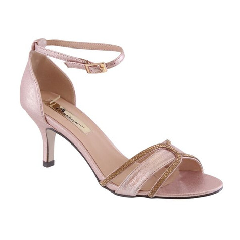 Barino Rose-Gold Ankle Strap Shoe