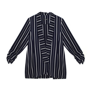 SophieB Navy & Silver Stripe Light Blazer