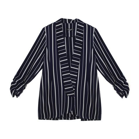 SophieB Navy & Silver Stripe Light Blazer