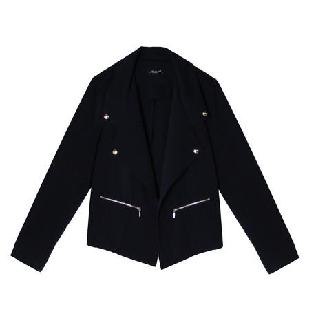 SophieB Navy Open Biker Style Jacket