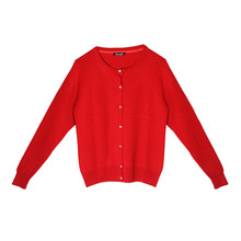 Twist Audrey Diamante Button Up Red Knit
