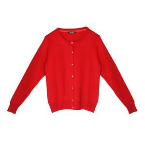 Twist Audrey Diamante Button Up Red Knit