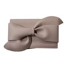 Style Shoes Pale Pink Large Bow Clutch Bag