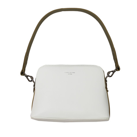 Dave Jones White & Camel Crossover Handbag