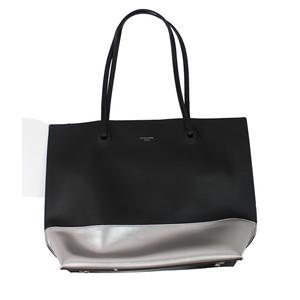 Dave Jones Black & Silver Trim Shopper Bag
