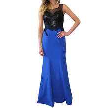 Lore Black & Royal Blue Long Dress