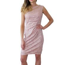 Scarlett Pink Mesh Sleeveless Pulled Dress