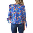 Zapara Blue Floral Pattern Sweetheart Top