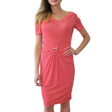 Zapara Red Polka Dot Dress