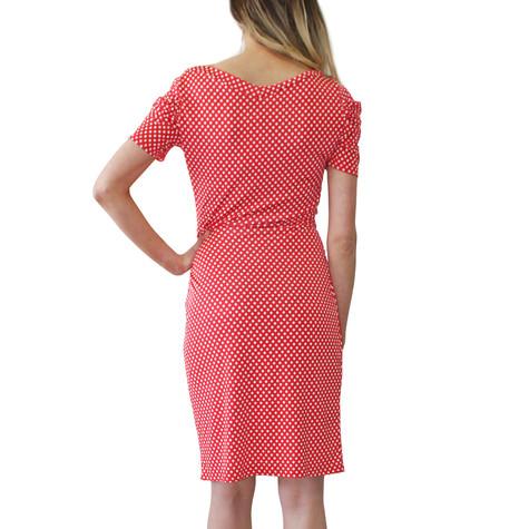 Zapara Red Polka Dot Dress