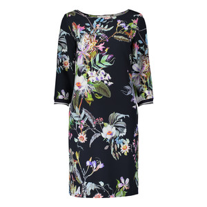 Betty Barclay Flower Pattern Long Sleeve Dress
