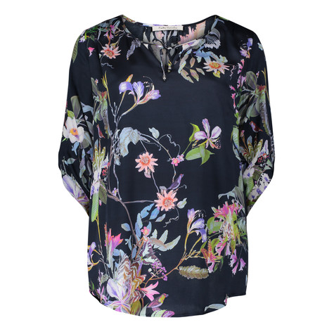 Betty Barclay Dark Floral Pattern Blouse
