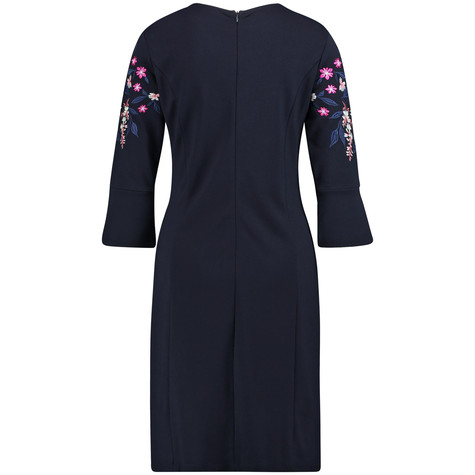 Gerry Weber Dark Navy Floral Embroidery Dress