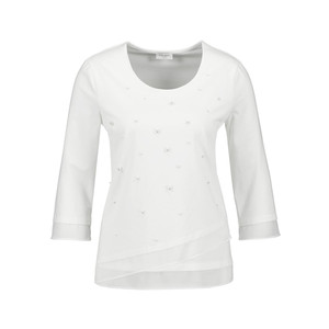 Gerry Weber Ecru Long Sleeve Pearl Detail Top