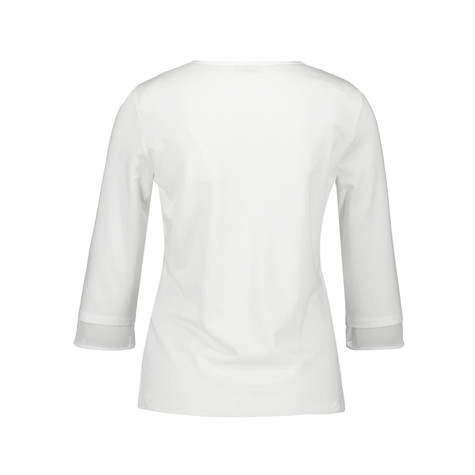 Gerry Weber Ecru Long Sleeve Pearl Detail Top