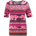 Gerry Weber Pink Multi Print Round Neck Top