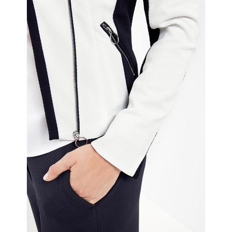 Gerry Weber Ecru Monochrome Biker Jacket