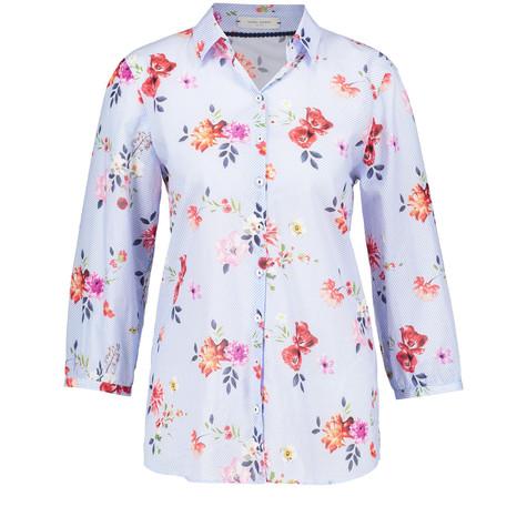 Gerry Weber 3/4 Sleeve Pinstripe Flower Print Shirt