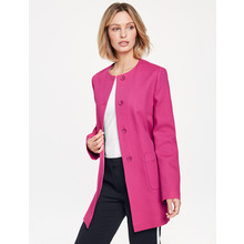 Gerry Weber Pink Round Neck Button Up Coat