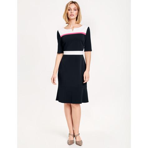 Gerry Weber Navy & Ecru Contrasting Panel Dress