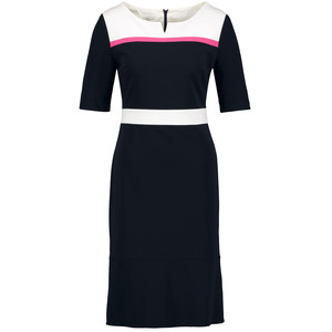 Gerry Weber Navy & Ecru Contrasting Panel Dress