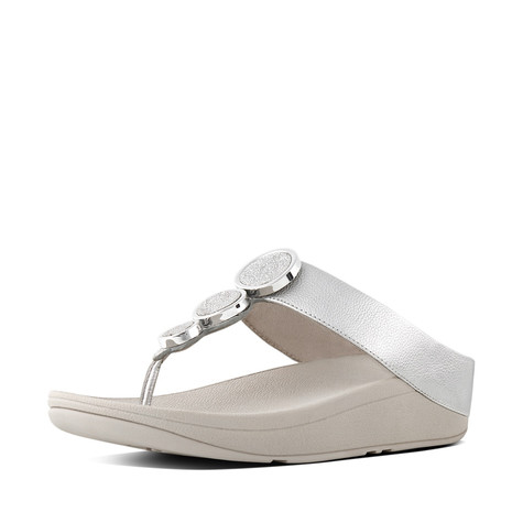 Fit Flop Halo Leather Toe-Thong Sandals
