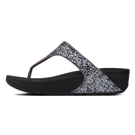 Fit Flop GLITTERBALL Pewter Toe-Thong Sandals