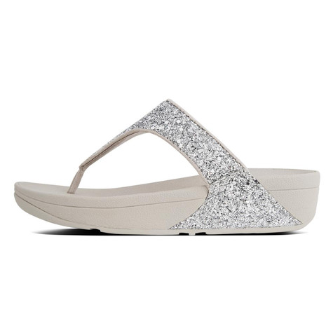 Fit Flop GLITTERBALL Silver Toe-Thong Sandals