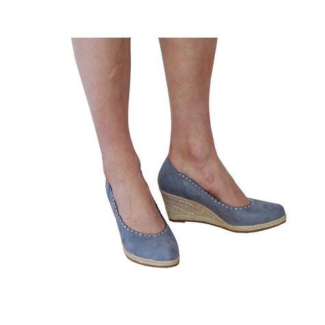 Marco Tozzi Azure Scallop Wedge Shoe