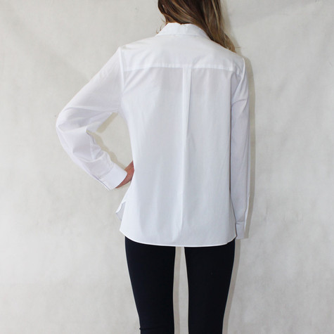 Zac and Rachel Pearl Detail White Collar Blouse