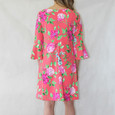 Jessica Howard Coral Bell Sleeve Floral Print Dress
