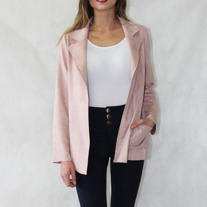 SophieB Dusty Pink Open Jacket