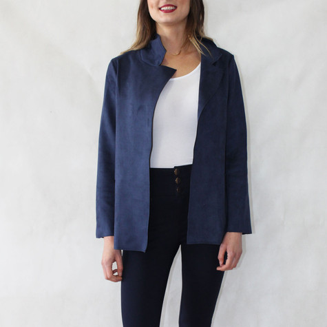 SophieB Navy Short Open Jacket