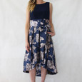 Jessica Howard Navy Silver Floral Pattern Dress