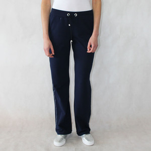 Pamela B Navy & Silver Stud Jogger Trousers