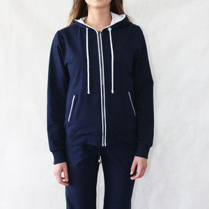 Pamela B Navy Zip Up Hoody