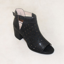La Bottine Souriante  Black Open Toe Heels