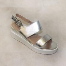 JM ABLOOM Silver Sandal Wedges