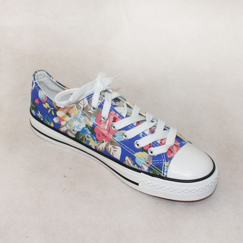Ane Sia Blue Floral Lace Trainers