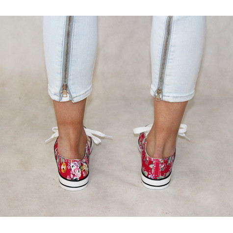 Ane Sia Rose Floral Print Trainers