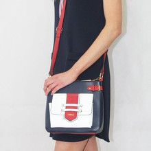 Gionni Navy Colour Block Shoulder Strap Handbag