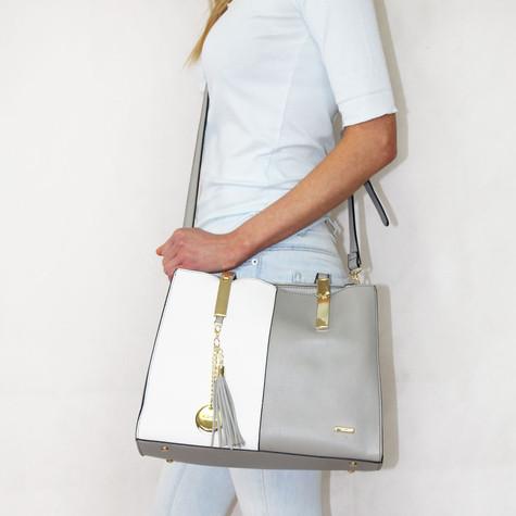 Gionni Grey & White Handbag
